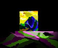 """""""Doorway"""" computer painting 5"""" x 6.5"""" 1996"""
