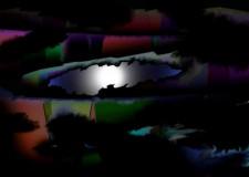 """Inner Eye"" computer painting 5"" x 7"" 1996"