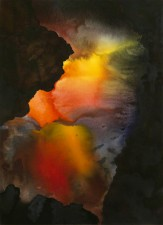 """Primal"" watercolor 22 x 30 in 2013"